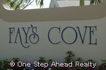 sign for Fays Cove