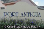 sign for Port Antigua